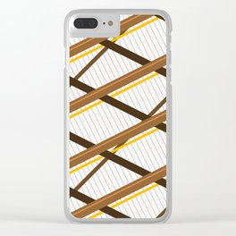 Deco Stripes Brown Clear iPhone Case