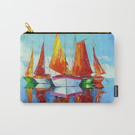 Schooners on the roadstead Carry-All Pouch