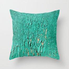 Shedding Green Throw Pillow