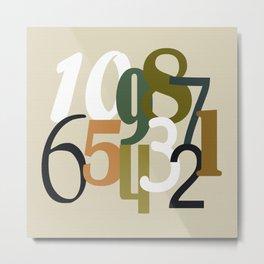 Number Countdown Digital Design Print Metal Print