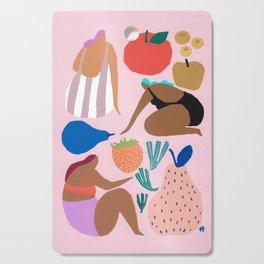 Pink Pear Cutting Board