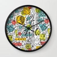 rush Wall Clocks featuring DON'T RUSH ME by Matthew Taylor Wilson