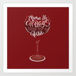 Wine Clock Art Print