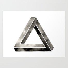 Penrose ImPossible Triangle Art Print