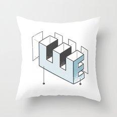The Exploded Alphabet / E Throw Pillow