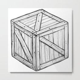 The Crate Metal Print
