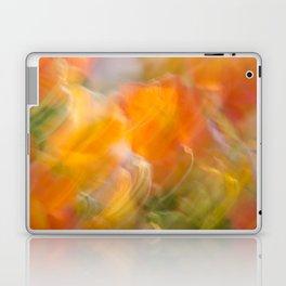 Sweeping Orange Strokes Laptop & iPad Skin