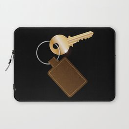 Leather Key Fob With Key Laptop Sleeve