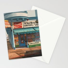The Van Ness South Grocery 17 & SVN San Francisco 1994 Stationery Cards