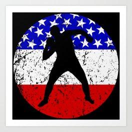 American Flag Shot Put Art Print