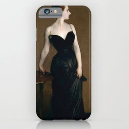 Portrait of Madame X by John Singer Sargent - Vintage Fine Art Oil Painting iPhone Case