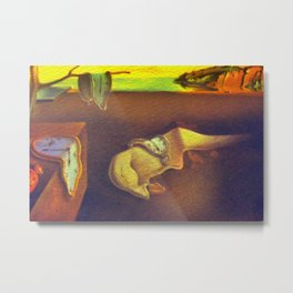 The Persistence of Memory  Metal Print