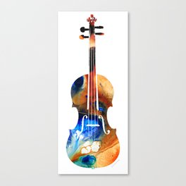 Violin Art By Sharon Cummings Canvas Print
