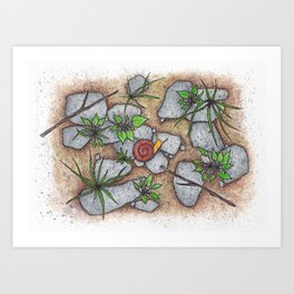 A Snail in Vermont Art Print