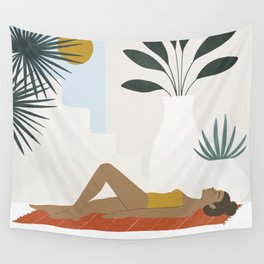 sol y piscina Wall Tapestry