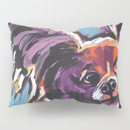Fun Papillon portrait Dog bright colorful Pop Art Pillow Sham