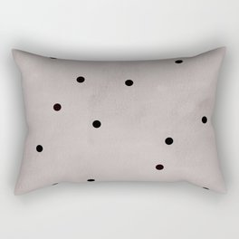 Black dots Rectangular Pillow