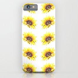 Watercolor Sunflower Petal Pattern iPhone Case