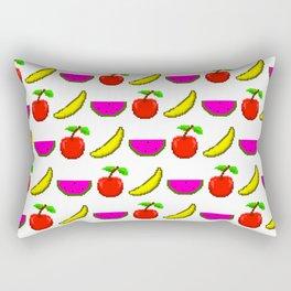 Retro Video Game Fruit Medley Pixel Art Rectangular Pillow