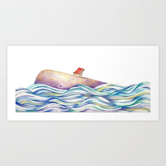 The Whale #1 Art Print