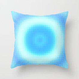 Ripple V Pixelated Throw Pillow
