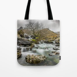 Lone Tree On The River Tote Bag