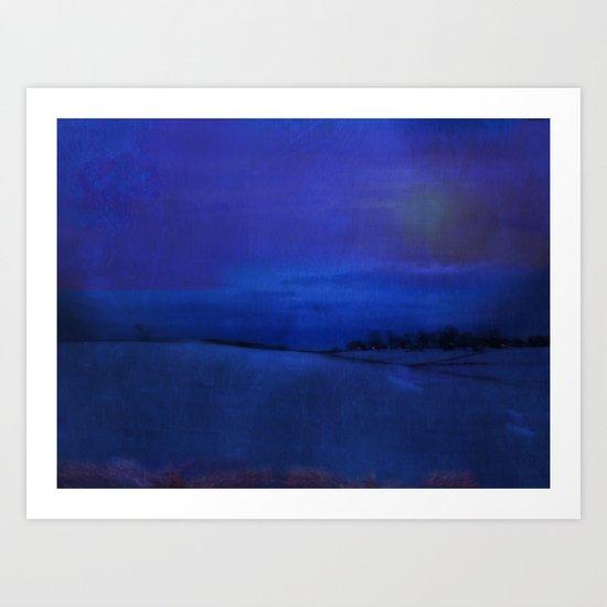 Blue Night ~ Abstract Art Print