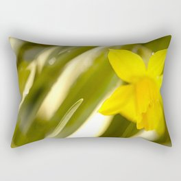 Spring atmosphere with yellow narcissus Rectangular Pillow
