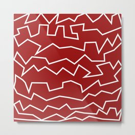 Irregular Pattern Art Print Metal Print