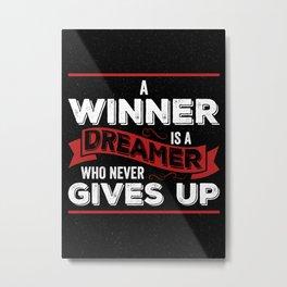 Winner Mindset Metal Print
