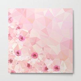 Pink Geometric Patter Metal Print