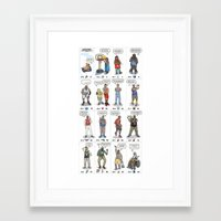 nba Framed Art Prints featuring NBA Ageisms by Bouncex3