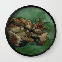 Crab on its Back Wall Clock