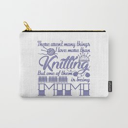 Knitting Mimi Carry-All Pouch