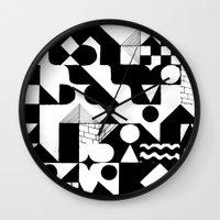grid Wall Clocks featuring GRID by Matt Scobey