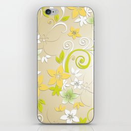 Flowers wall paper 2 iPhone Skin