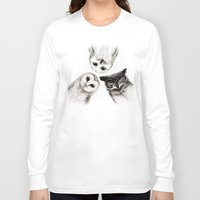 illustration Long Sleeve T-shirts featuring The Owl's 3 by Isaiah K. Stephens