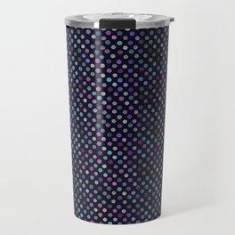Retro Colored Dots Material Travel Mug