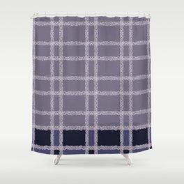 Lilac Indigo Lace Shower Curtain
