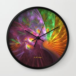 Peacock Plumes Wall Clock