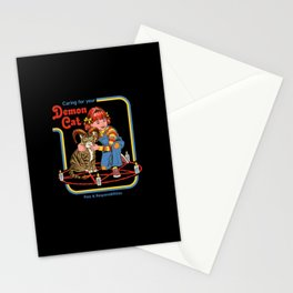 Caring for Your Demon Cat Stationery Cards