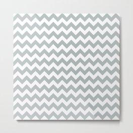 CHEVRON DESIGN (SILVER-WHITE) Metal Print
