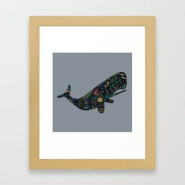 Shafted Whale Framed Art Print