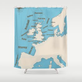 meteorological Shipping forecast. Shower Curtain