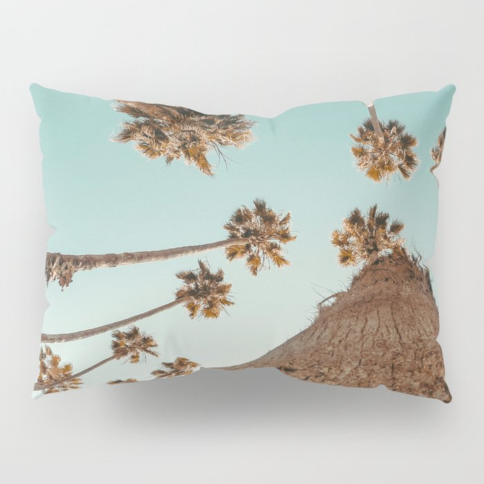 {1 of 2} Hug a Palm Tree // Tropical Summer Teal Blue Sky Pillow Sham