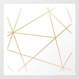 geometric gold and white Kunstdrucke