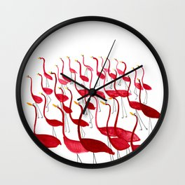 The Dance of the Flamingos Wall Clock