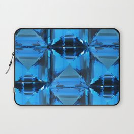 BLUE CRYSTAL GEMS PATTERN Laptop Sleeve