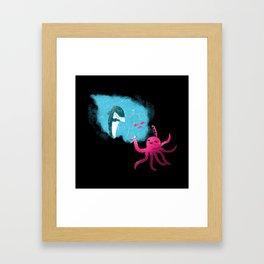 An Inky Mess Framed Art Print