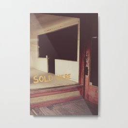 Sold Here Metal Print